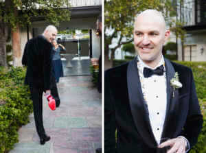 The groom looking so dapper
