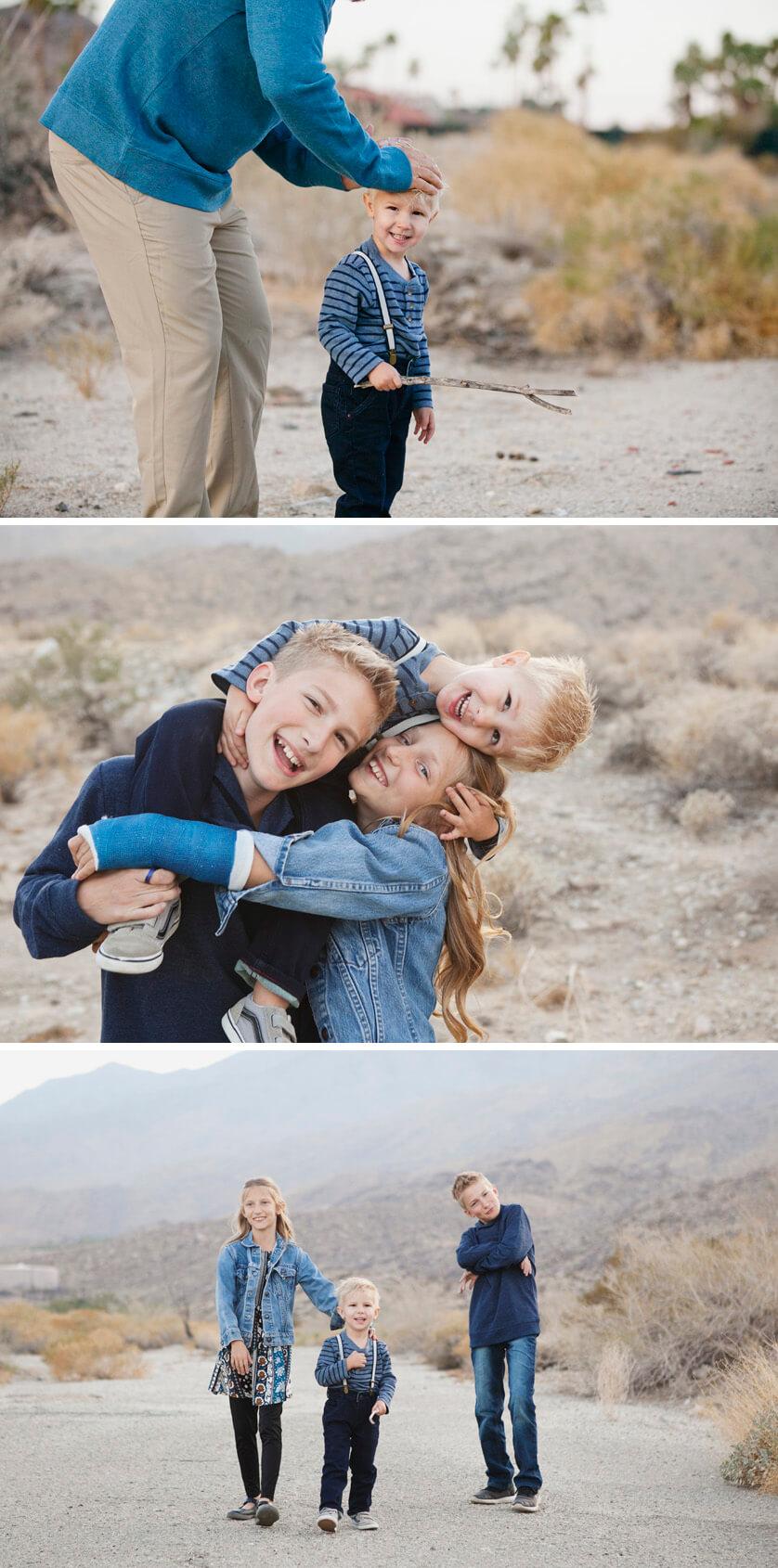 Goofy kids portraits