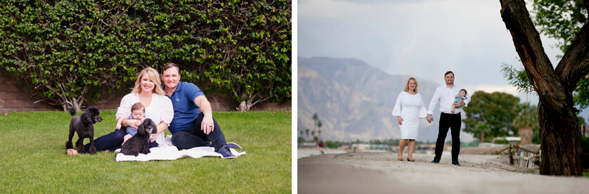 New family, baby portraits, Rancho Mirage Ca.