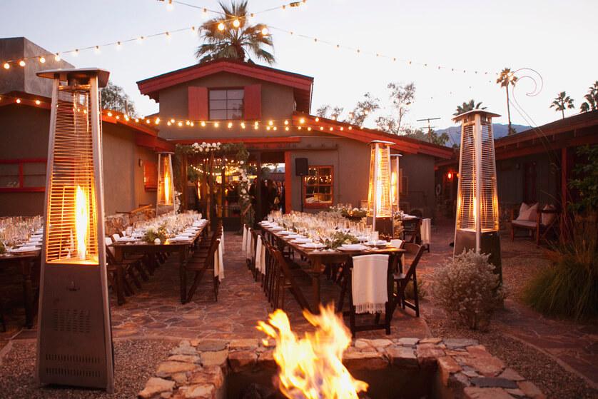 Wedding reception, Sparrows, Palm springs