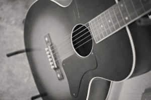 guitar belonging to Rowland Salley