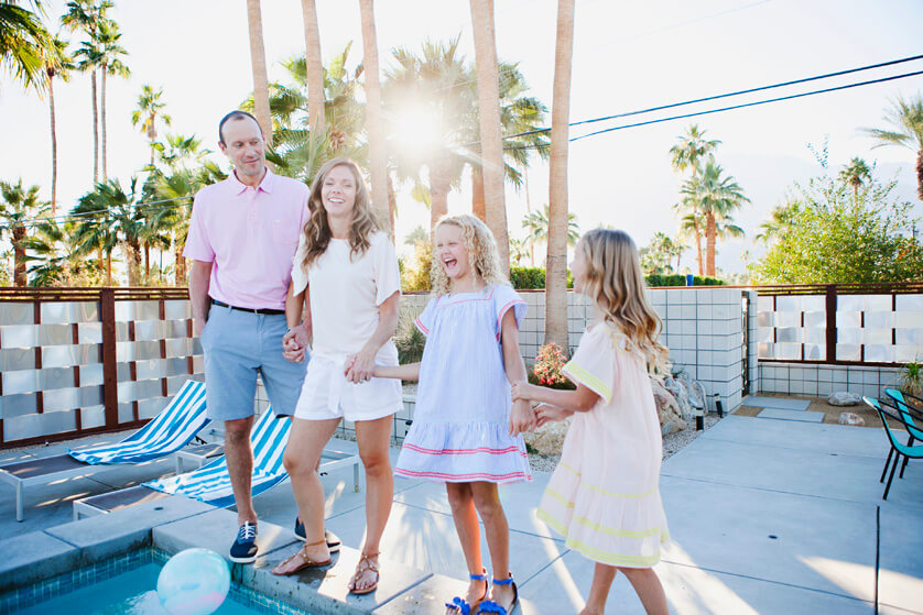 documentary family photo session in Palm springs