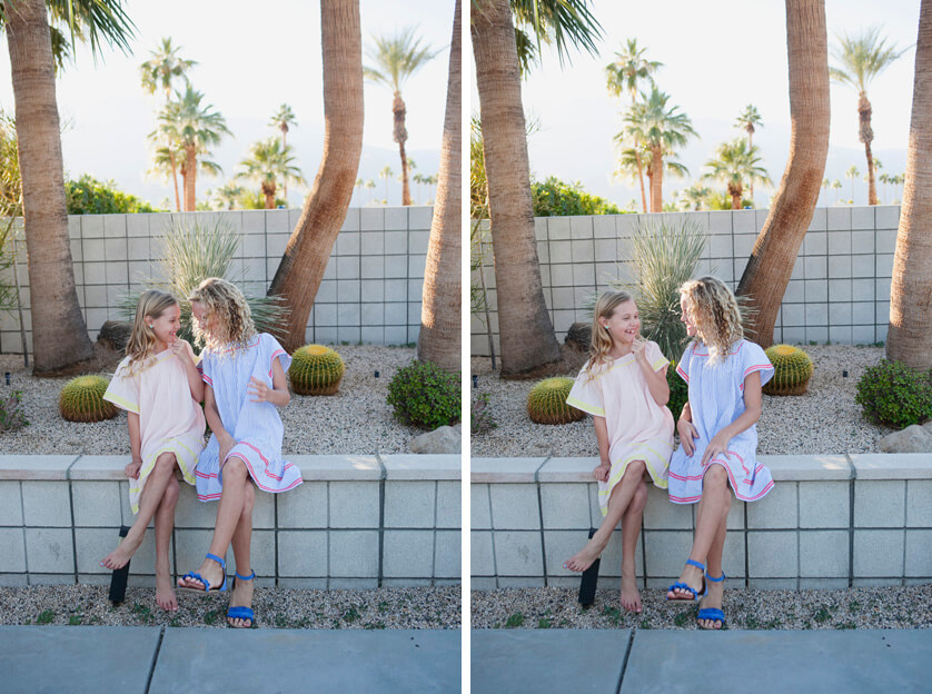 Fun family photo session in Palm Springs