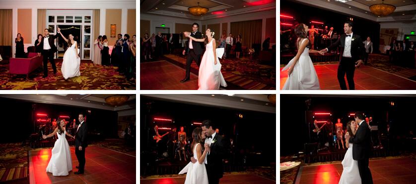 Super fun ballroom reception at the Ritz in Rancho Mirage