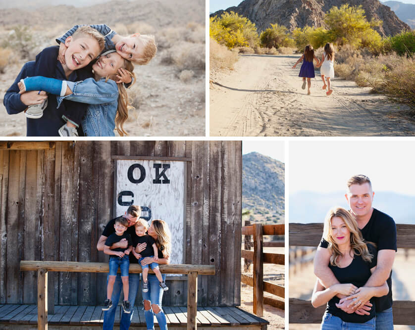 Family photography sessions, Palm Springs, Joshua Tree, Pioneertown and La Quinta California